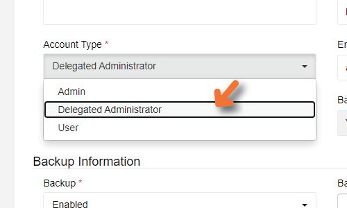 Delegated Administration - Delegated Administration for efficient data backup management