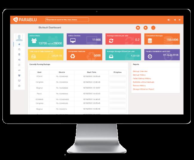 Endpoint data backup-centralized data management