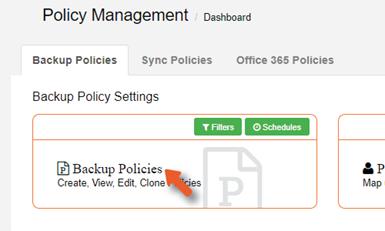 Backup Policies