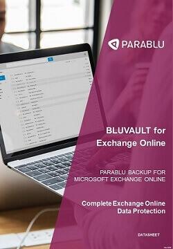 Exchange Online Backup-BluVault