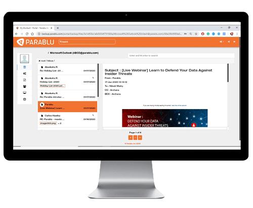 BluVault- Exchange Online Backup